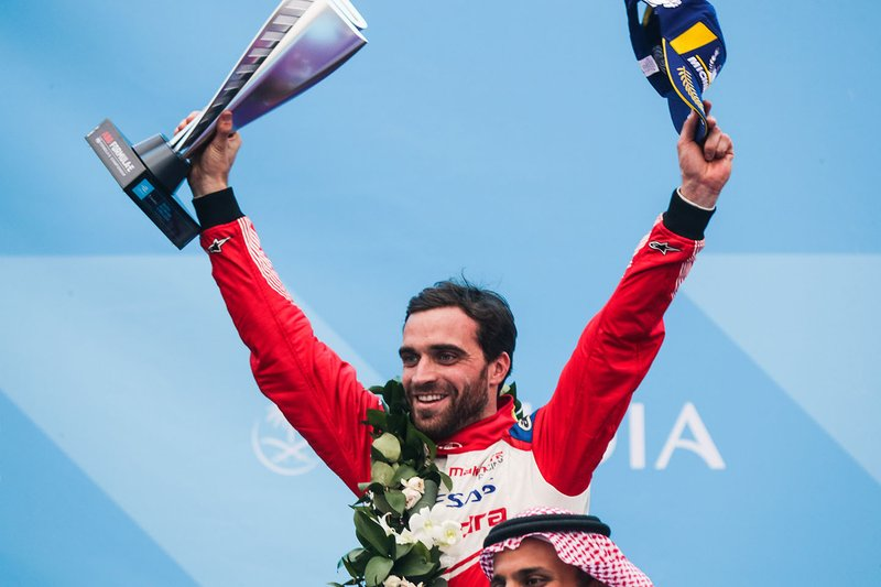 Jérôme d'Ambrosio, Mahindra Racing celebrates third position on the podium
