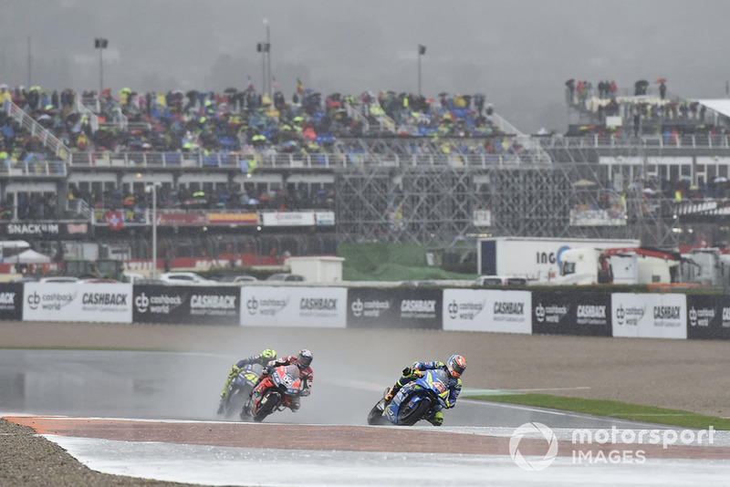 Алекс Рінс, Team Suzuki MotoGP, Андреа Довіціозо, Ducati Team, Валентино Россі, Yamaha Factory Racing