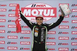 Motul Pole Award winner #22 Tequila Patron ESM Nissan DPi, P: Pipo Derani