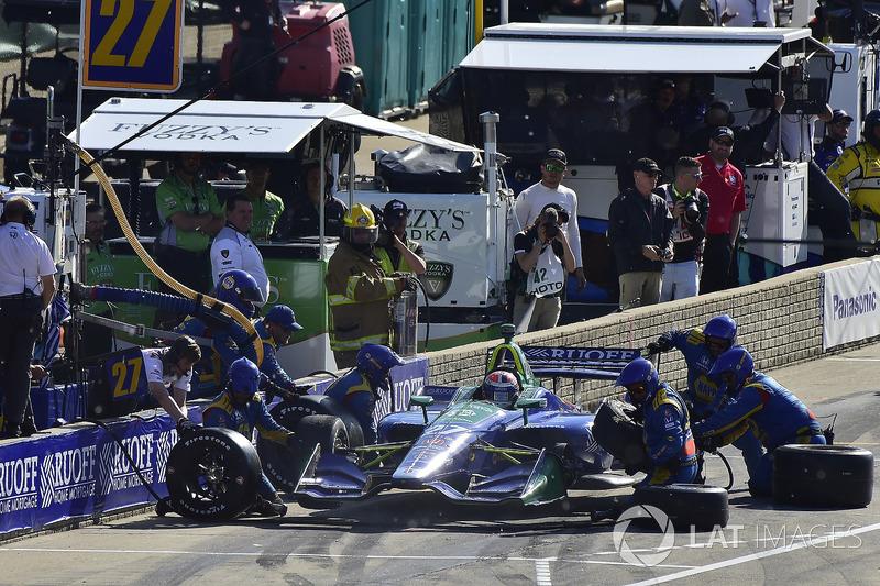 Alexander Rossi, Andretti Autosport Honda late pit stop