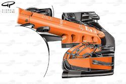 McLaren MCL32 nariz de lanzamiento
