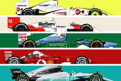 Los F1 más ganadores
