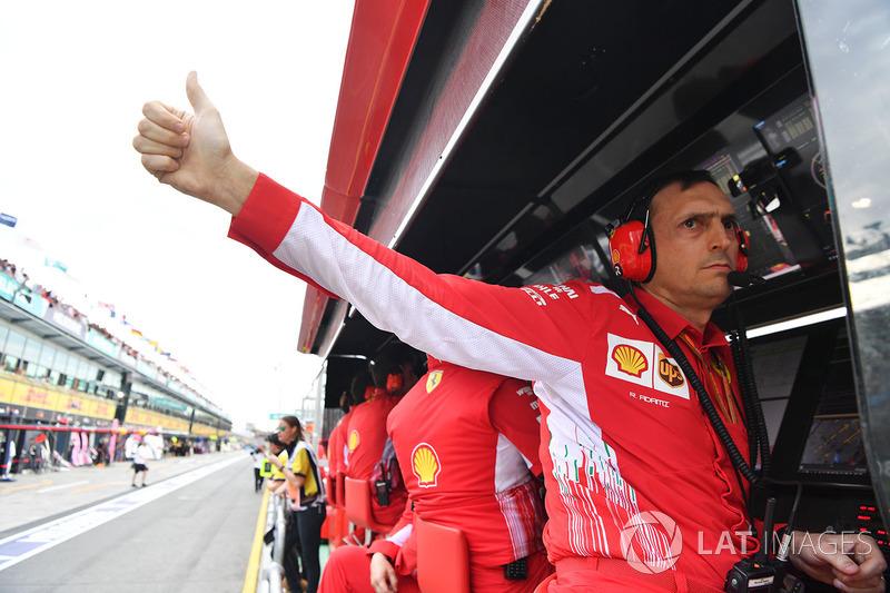 Гоночный инженер Ferrari Риккардо Адами