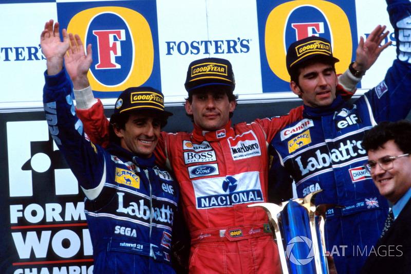 Senna sichert sich mit dem Sieg den Vizetitel vor Damon Hill und ...