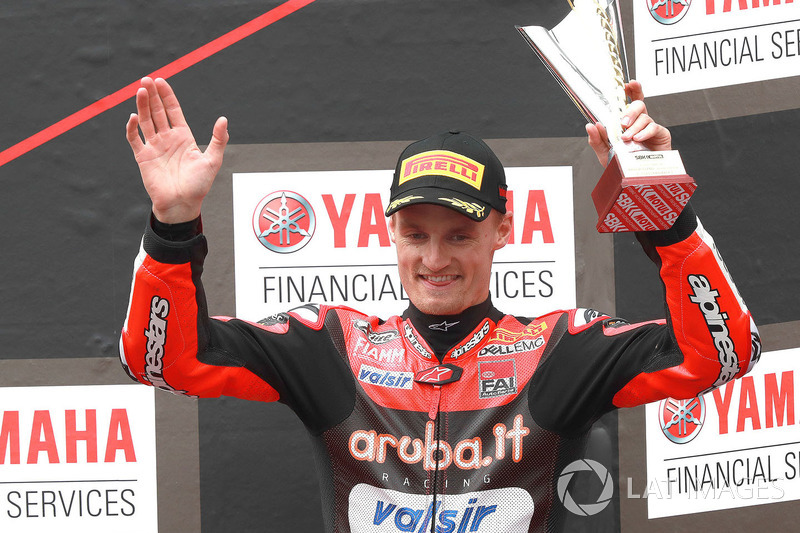 Podium: third place Chaz Davies, Aruba.it Racing-Ducati SBK Team