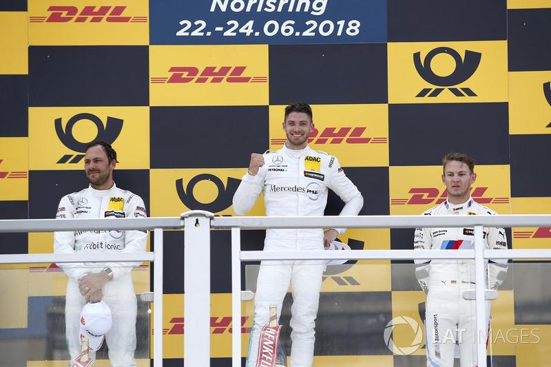Podium: Race winner Edoardo Mortara, Audi Sport Team Abt Sportsline, second place Gary Paffett, Mercedes-AMG Team HWA, third place Marco Wittmann, BMW Team RMG