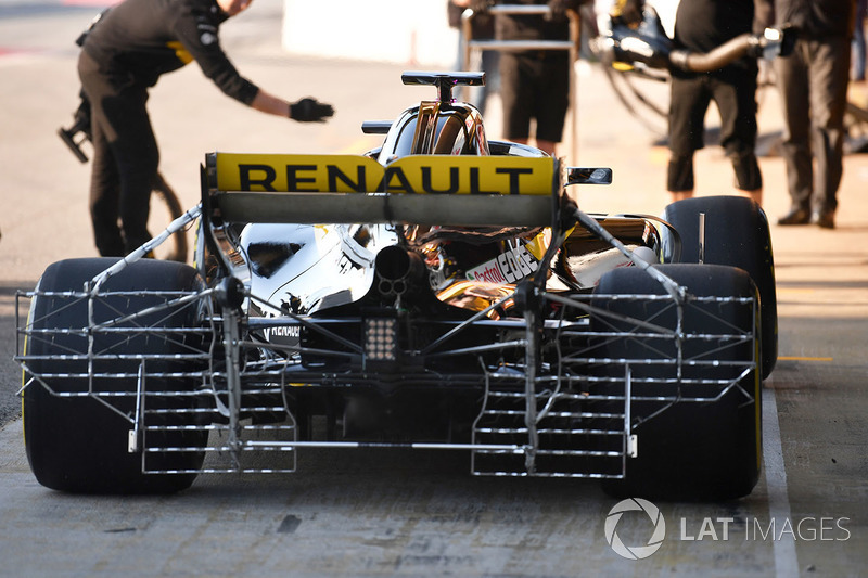 Nico Hulkenberg, Renault Sport F1 Team RS18 with aero sensors