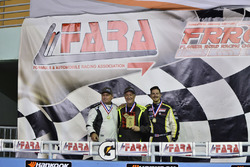 Carter Fartuch, Bart Collins, Mike Menella of TLM Racing