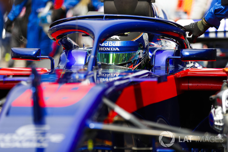 Brendon Hartley, Toro Rosso, on the grid