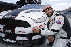 Motul Pole award winner #80 AWA, Ford Mustang GT4, GS: Brett Sandberg