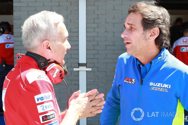 Davide Tardozzi, Team manager Ducati Team, Davide Brivio, Team manager, Team Suzuki MotoGP