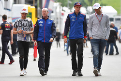 Pierre Gasly, Scuderia Toro Rosso, Jody Egginton, Scuderia Toro Rosso, Brendon Hartley, Scuderia Toro Rosso et Alexander Wurz, Williams
