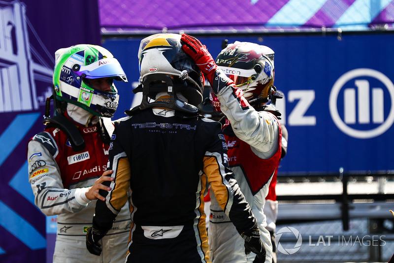 Jean-Eric Vergne, Techeetah, mengungguli Lucas di Grassi, Audi Sport ABT Schaeffler, dan Daniel Abt, Audi Sport ABT Schaeffler