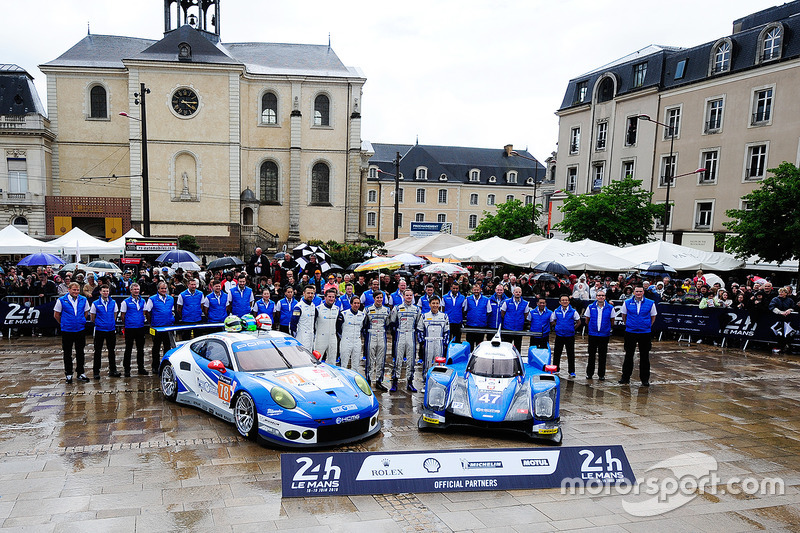 #78 KCMG Porsche 911 RSR: Christian Ried, Wolf Henzler, Joel Camathias, #47 KCMG Oreca 05 - Nissan: Tsugio Matsuda, Matt Howson, Richard Bradley