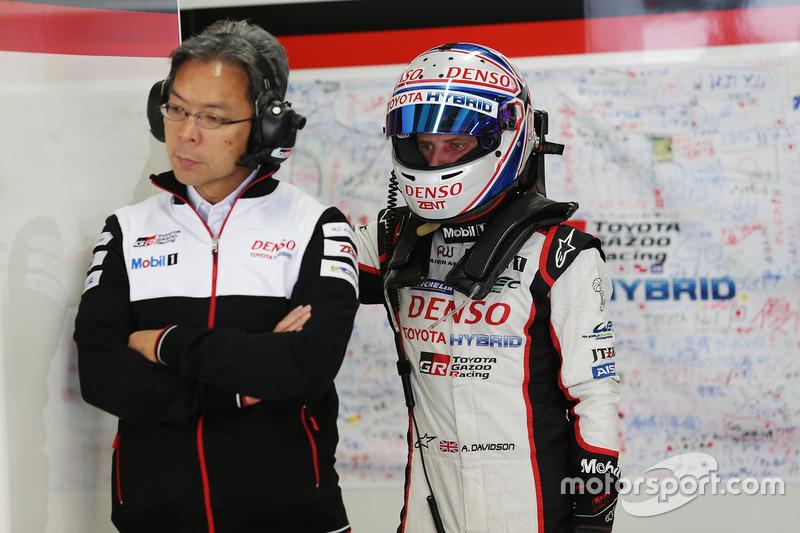 Toshio Sato, TMG President, Anthony Davidson, Toyota Racing