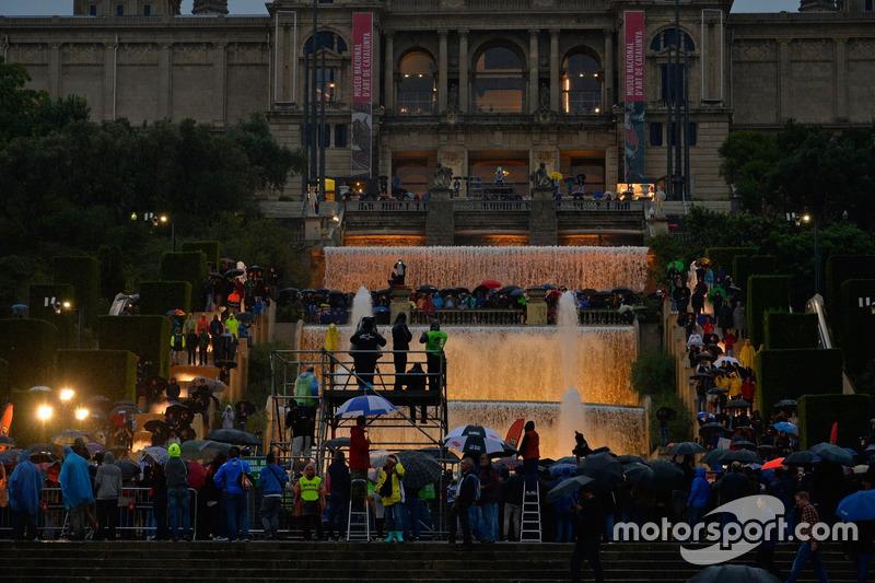 Regen auf WP 1 der Rallye Spanien