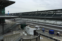Rain over Indianapolis Motor Speedway