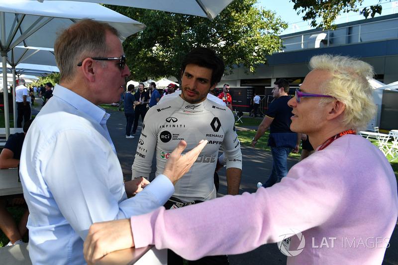 Martin Brundle, Sky TV, Carlos Sainz jr, Renault Sport F1 Team y Jacques Villeneuve, Sky Italia