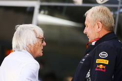 Bernie Ecclestone, Chairman Emeritus of Formula 1, met Helmut Markko, Consultant, Red Bull Racing