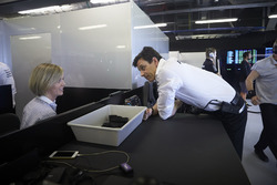 Susie Wolf and Toto Wolff, Executive Director Mercedes AMG F1