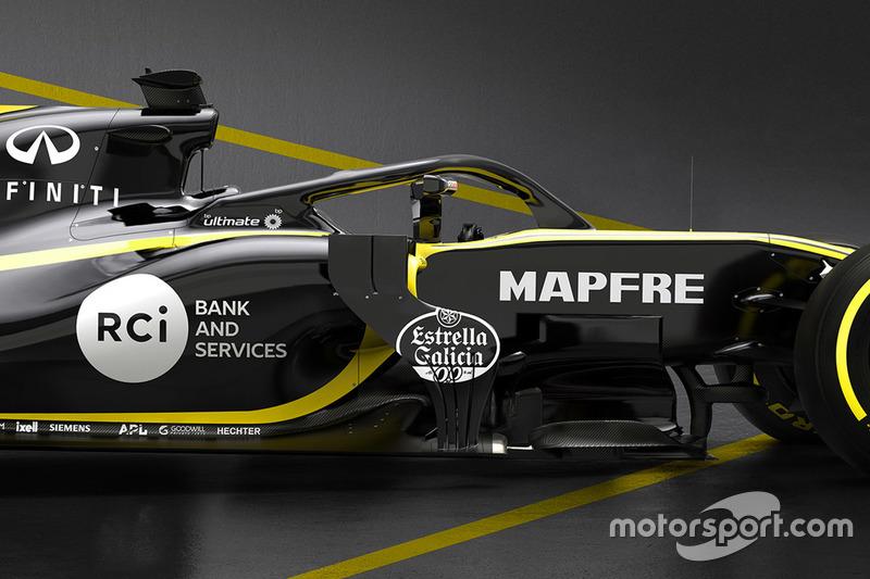 Renault F1 Team RS18 halo detay