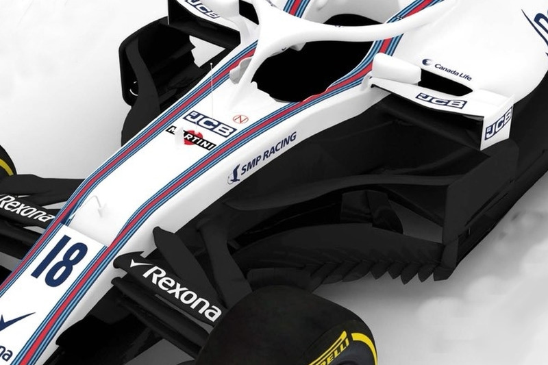 Williams FW41 bargeboard ve sidepod
