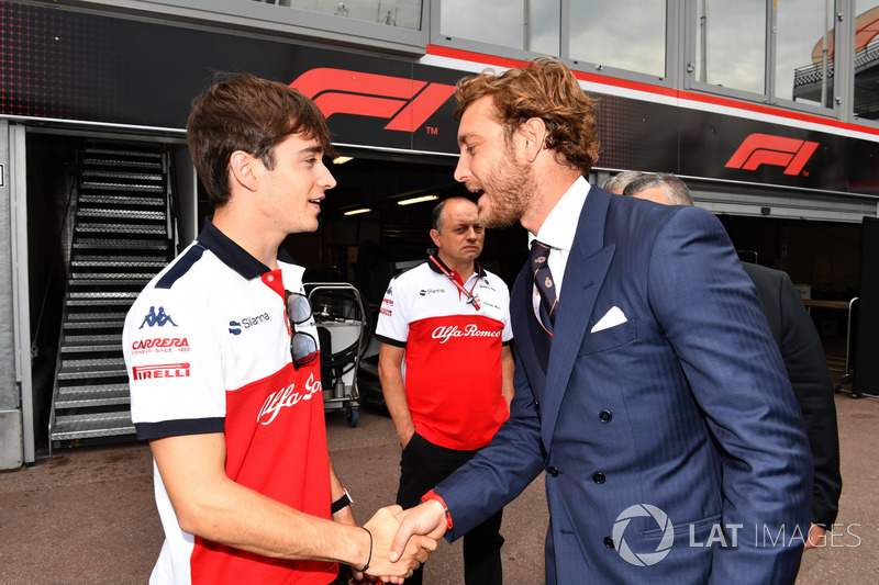 Charles Leclerc, Sauber and Pierre Casiraghi