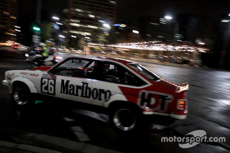 A Holden Tourng car in the streets of Adelaide