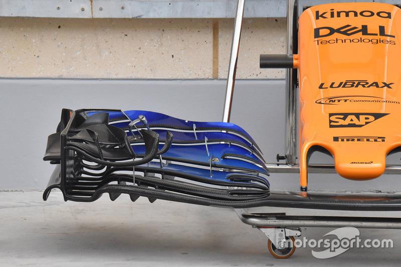 McLaren MCL33 voorvleugel detail