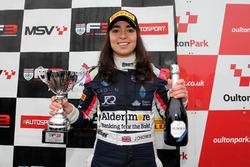 Podio: il terzo classificato Jamie Chadwick, Douglas Motorsport
