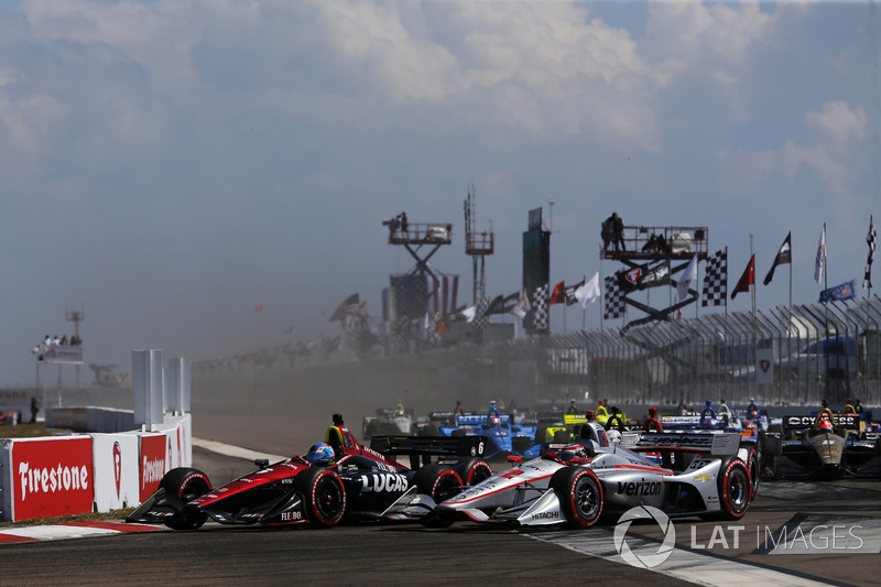 Start: Robert Wickens, Schmidt Peterson Motorsports Honda, Will Power, Team Penske Chevrolet