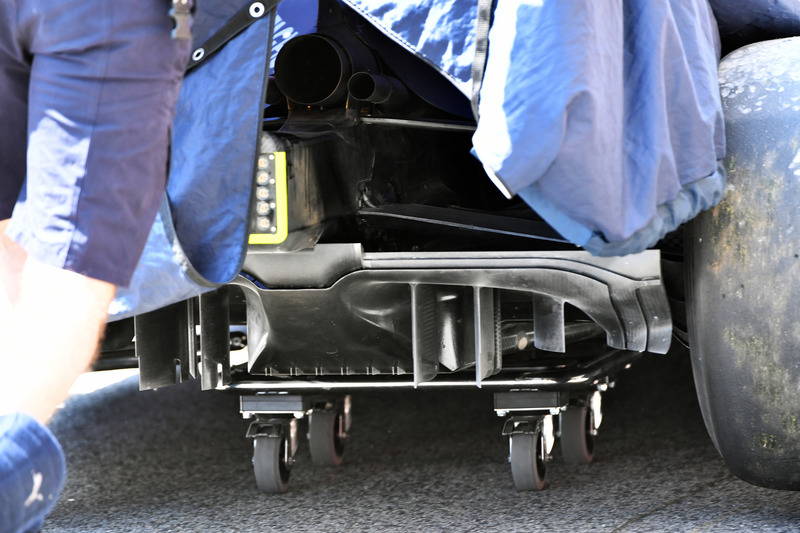 Detalle del difusor trasero Red Bull Racing RB14