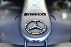 The nose of the Mercedes AMG F1 W09