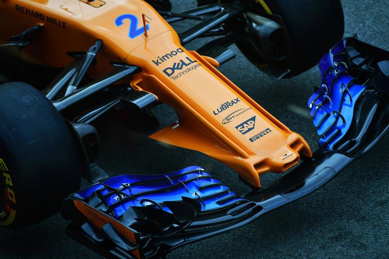 McLaren MCL33 nariz y detalle de ala delantera