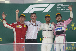 Kimi Raikkonen, Ferrari, Lewis Hamilton, Mercedes AMG F1, Sergio Perez, Force India