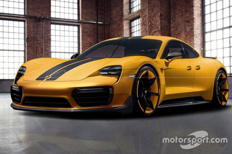 Ексклюзивний рендер Porsche Taycan