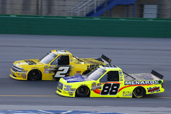 Matt Crafton, ThorSport Racing, Ford F-150 Rip It/ Menards and Cody Coughlin, GMS Racing, Chevrolet Silverado Jeg's.com