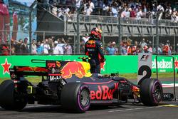 Max Verstappen, Red Bull Racing RB13 in parc ferme