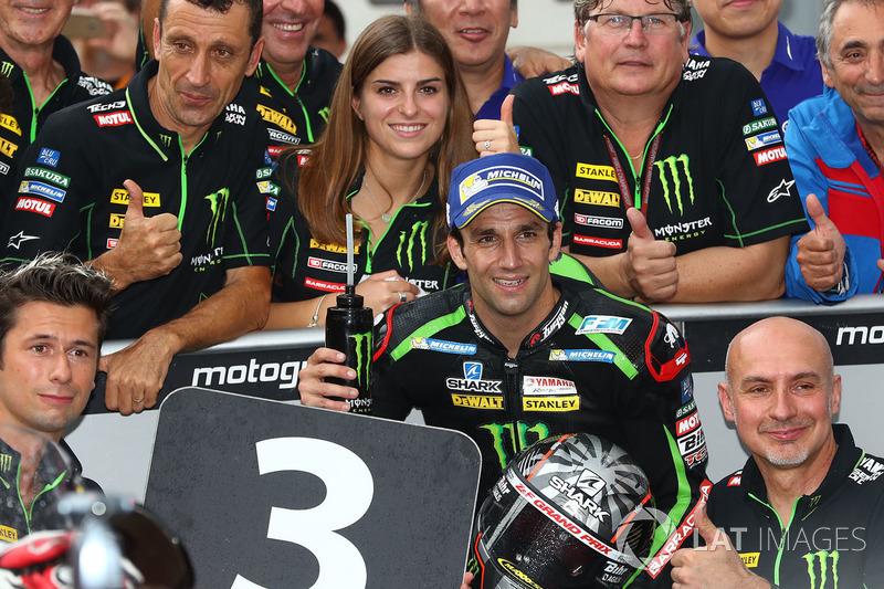 Johann Zarco confirmou o terceiro lugar.