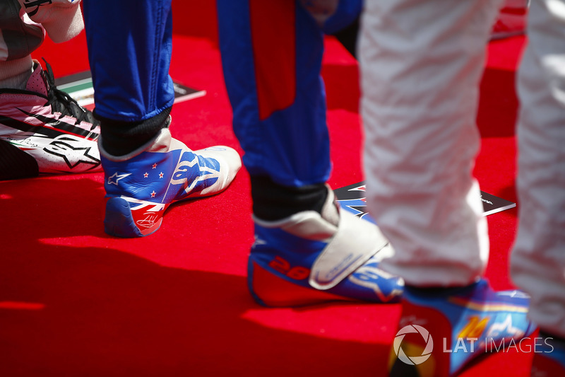 The boots of Brendon Hartley, Toro Rosso