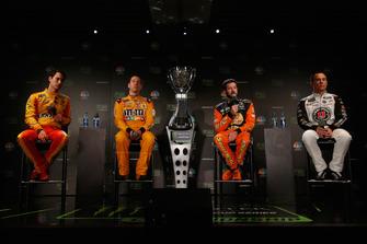 Joey Logano, Kyle Busch, Martin Truex JR, Kevin Harvick