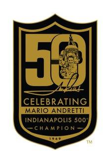 Mario Andretti 50th celebration logo