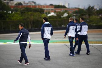 Sergey Sirotkin, Williams Racing, walks the circuit