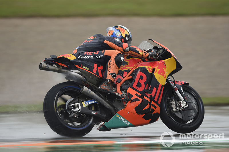 Pol Espargaro, Red Bull KTM Factory Racing, after crash