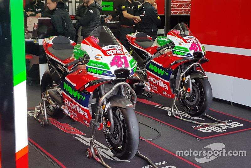La moto d'Aleix Espargaró (Aprilia Racing Team Gresini)