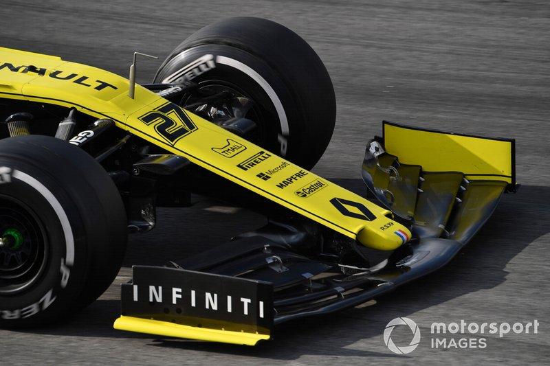 Renault F1 Team R.S. 19, morro y alerón delantero