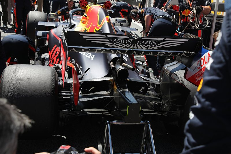 Red Bull RB15: la carrozzeria in Austria era molto chiusa con pance dotate di sfoghi ridotti