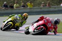 Max Biaggi, Yamaha, crash voor Valentino Rossi, Honda