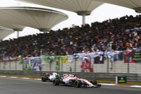 Esteban Ocon, Force India VJM10, leads Felipe Massa, Williams FW40