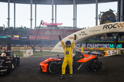 Juan Pablo Montoya, celebrates after being crowned the Champion of Champions